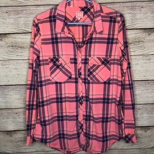 Guess Hot Pink Button Down